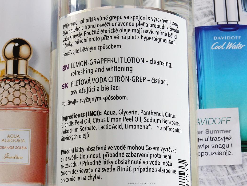 Nobilis Tilia - pleťová voda Citron - grep