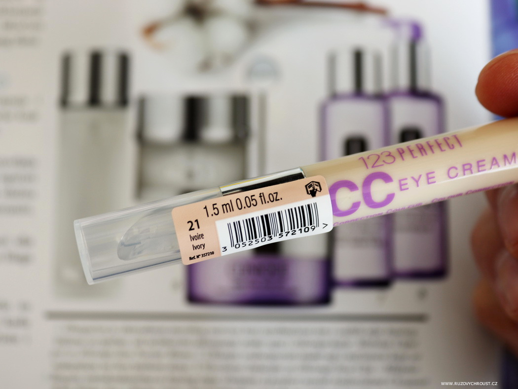 123 Perfect CC Illuminating Eye Care, Korektor (21 Ivory)