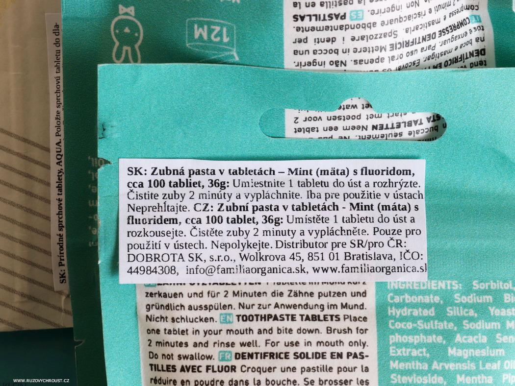 Ben & Anna - přírodní zubní pasta v tabletách (Mint a Mint s fluoridem)