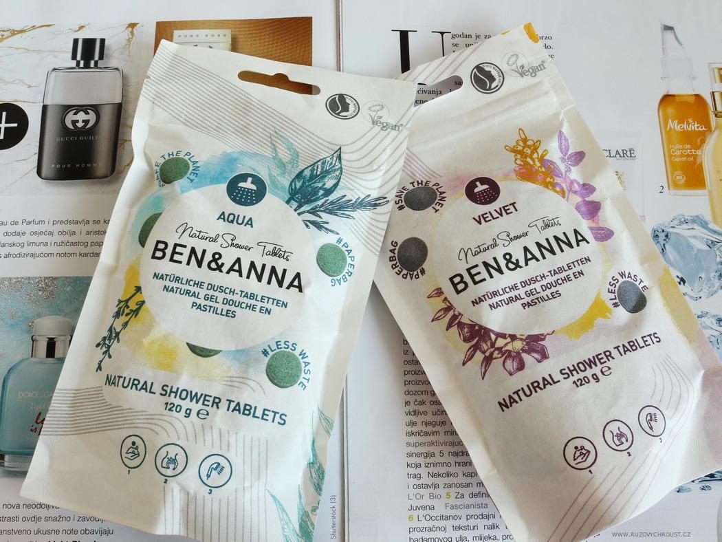 Ben & Anna - sprchový gel v tabletách (Velvet a Aqua)