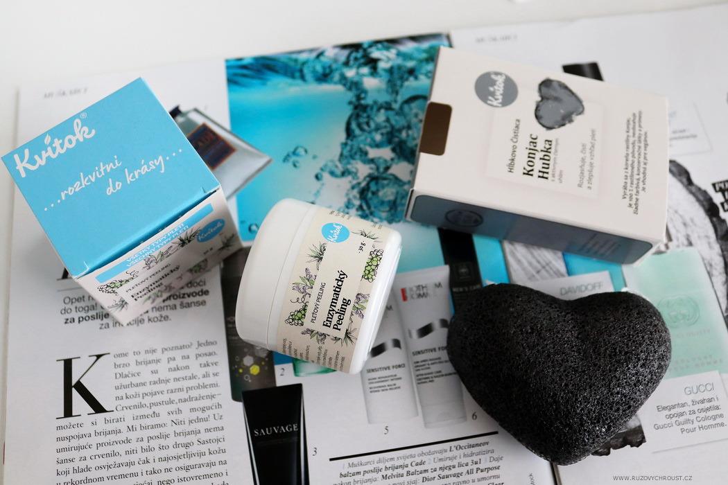Kvitok – enzymatický peeling a čisticí konjak houbička