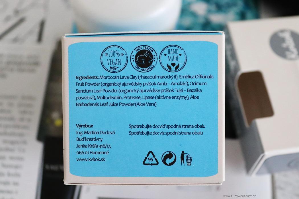 Kvitok - enzymatický peeling a čisticí konjak houbička