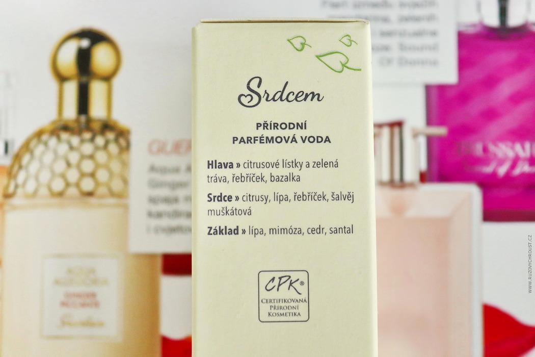 """Nobilis Tilia - přírodní parfémová voda """"Srdcem"""""""