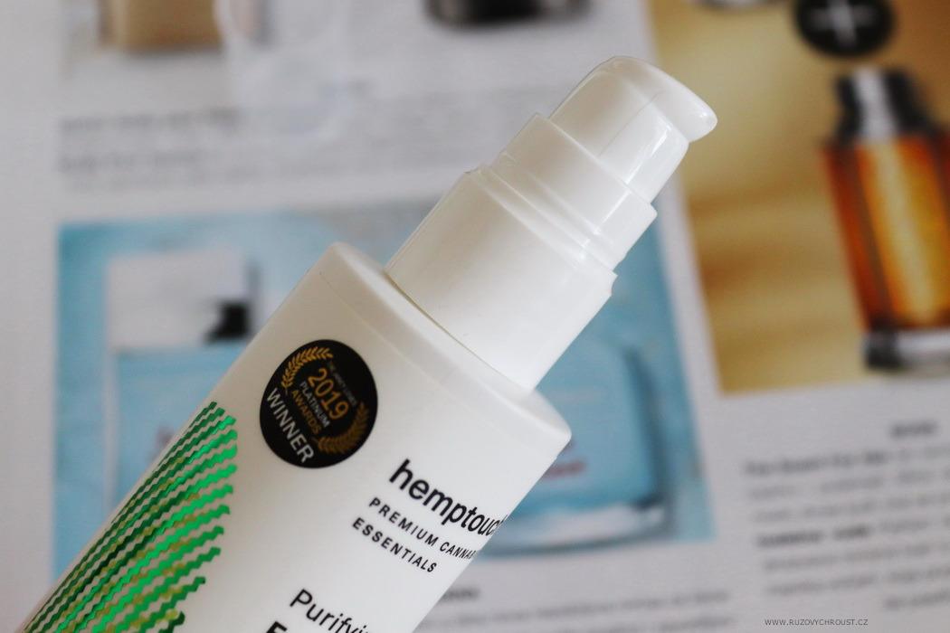Hemptouch - hydratační rozjasňující esence a čisticí pleťová emulze