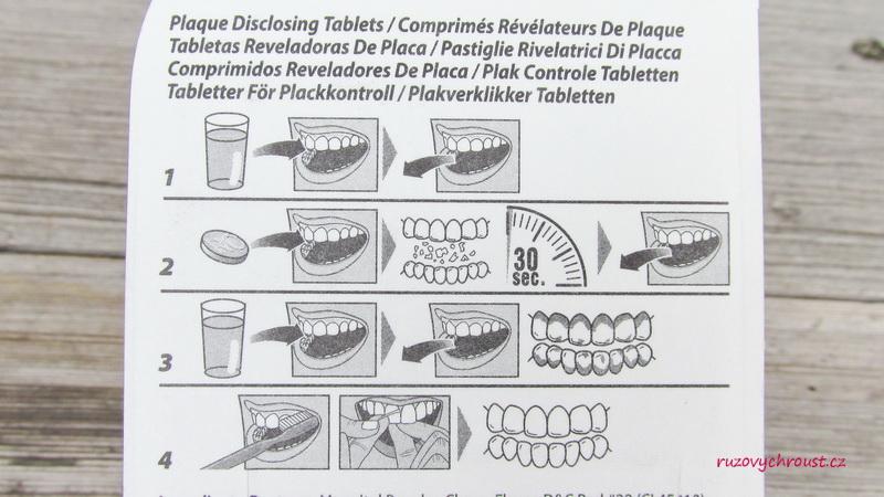 G.U.M. - tablety pro indikaci zubního plaku