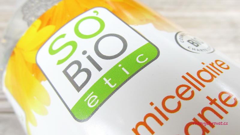 SO'BIO - zklidňující BIO micelární voda s měsíčkem