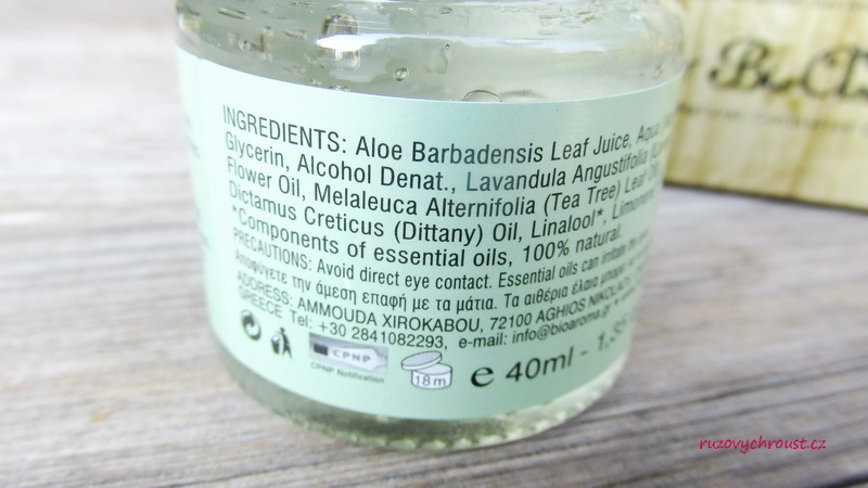 BioAroma – Aloe Vera hydratační gel s diktamem a levandulí