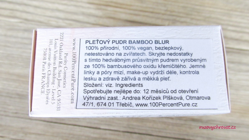 100% Pure – pleťový pudr Bamboo Blur