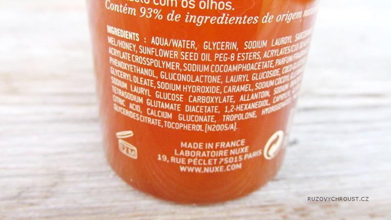 Nuxe – Čistící gel na obličej Rêve de miel