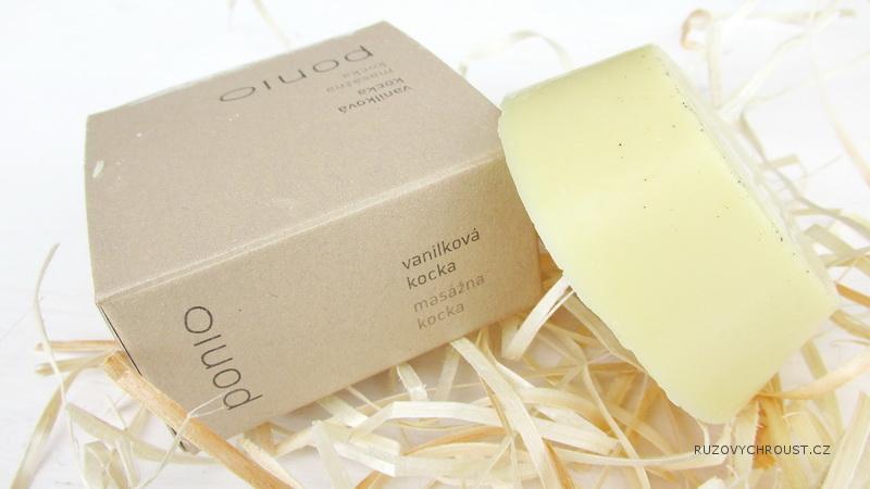 Ponio – Vanilková masážní kostka