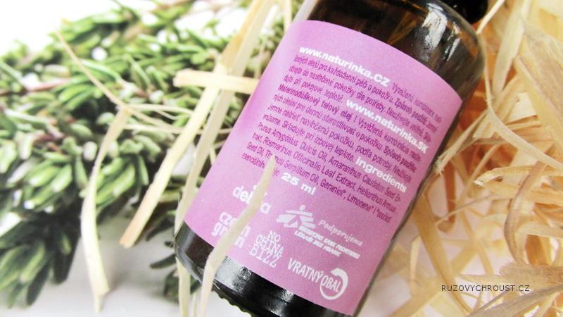 Naturinka - mateřídouškový tělový olej