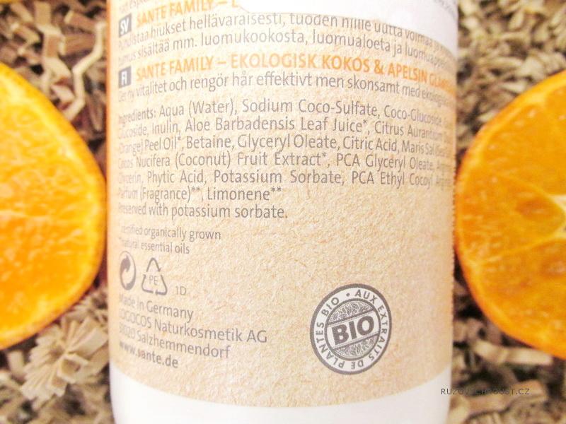 Sante – Šampon gloss family (bio pomeranč a bio kokos)